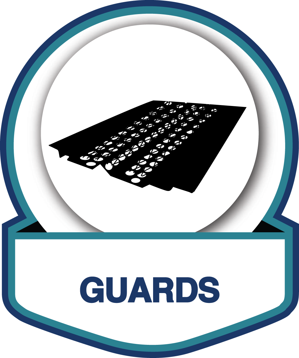Leaf guards provide gutter protection from leaves and other debris